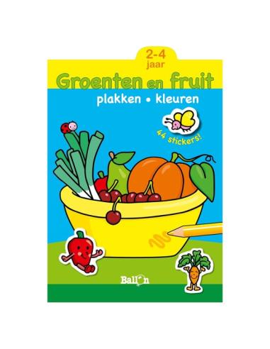 DE BALLON PLAKKEN EN KLEUREN GROENTEN EN FRUIT 2-4JR
