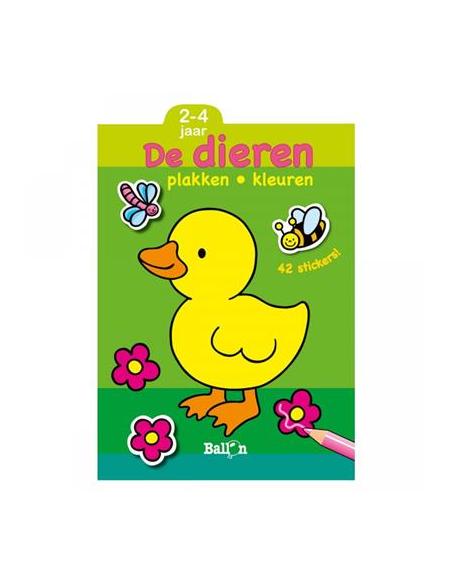 DE BALLON PLAKKEN EN KLEUREN DE DIEREN 2-4JR